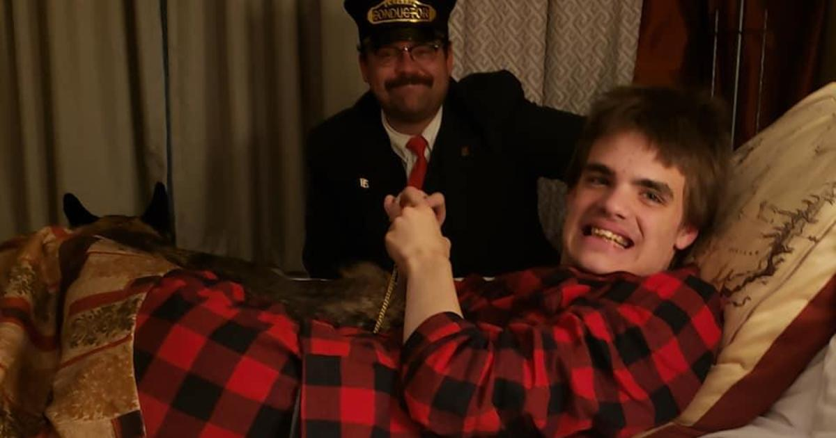 "After a teen with autism missed a ride on the ""Polar Express,"" the conductor visited him for a magical experience"