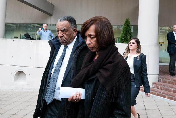 Former Baltimore Mayor Catherine Pugh leaves the U.S. District Court, in Baltimore