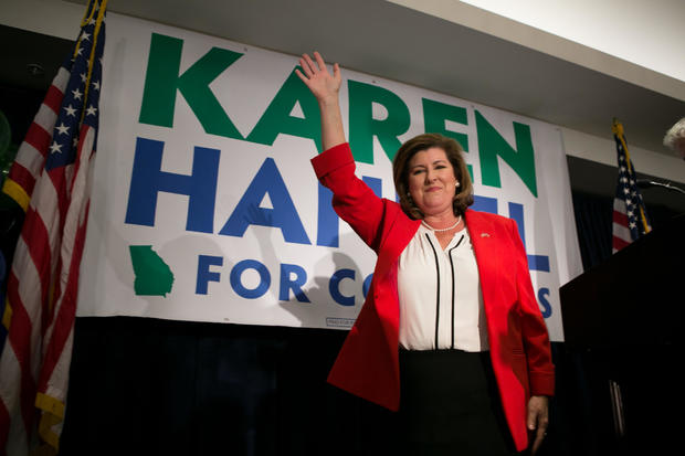 GOP GA Congressional Candidate Karen Handel Holds Election Night Event