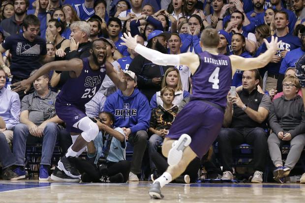 APTOPIX Stephen F Austin Duke Basketball