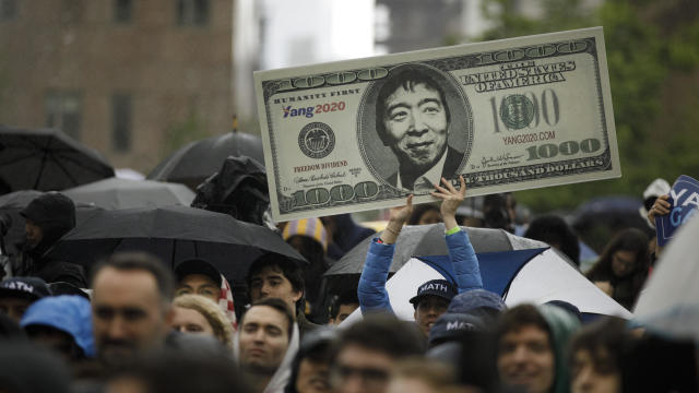 Presidential Candidate Andrew Yang Holds Campaign Rally In New York City