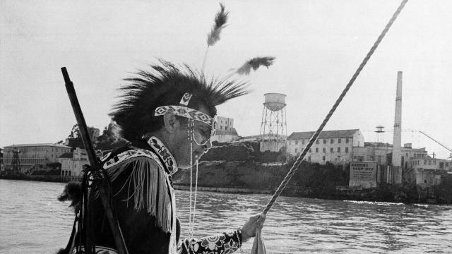 Native Americans at Alcatraz 1969