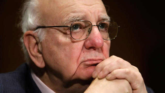 Paul Volcker, chairman of the President's Economic Recovery Advisory Board and former Federal Reserve Board chairman, testifies during a hearing before the Senate Banking, Housing and Urban Affairs Committee on Capitol Hill February 4, 2009, in Washington.