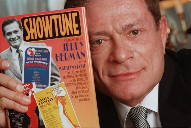 "JERRY HERMAN WITH NEW BOOK ""SHOWTUNES"""