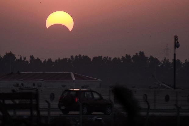 IRAQ-ASTRONOMY-SOLAR-ECLIPSE