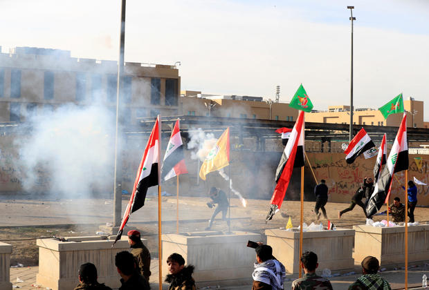 Protests at the U.S. Embassy in Baghdad