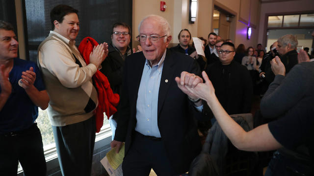Democratic Presidential Candidate Bernie Sanders Campaigns in Iowa