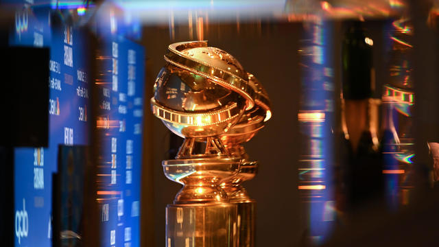 Golden Globe trophies are set by the stage ahead of the 77th annual Golden Globe Awards nominations announcement at the Beverly Hilton hotel in Beverly Hills, California, on December 9, 2019.