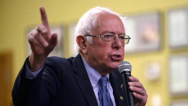 Sen. Bernie Sanders Holds Town Hall At Motorcycle Museum In Iowa