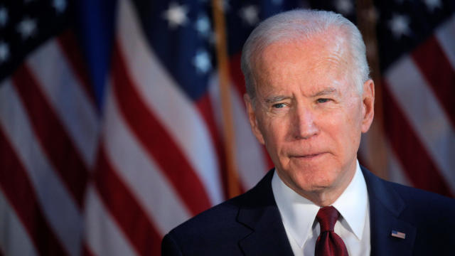 U.S. Democratic presidential candidate Joe Biden delivers a foreign policy address in New York