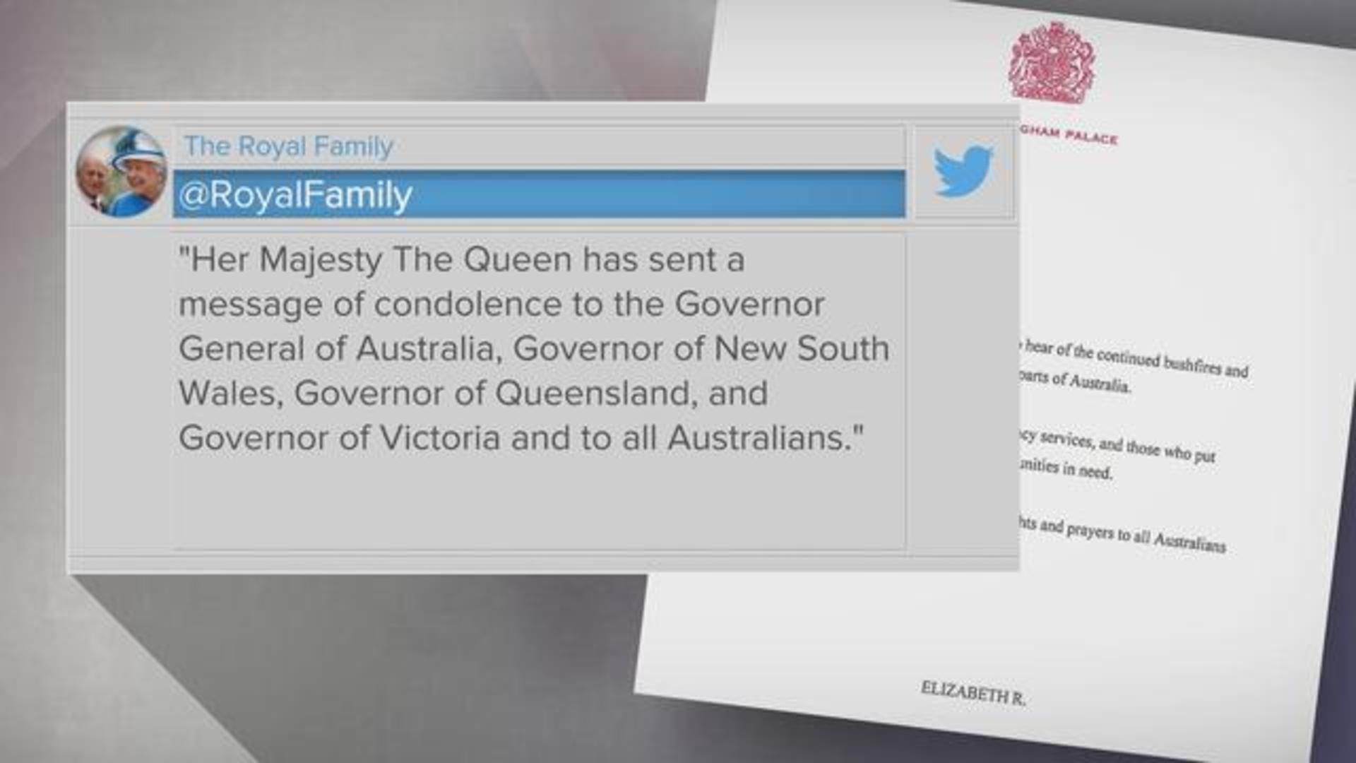 "The Royals Report Royal Family Sends ""thoughts And Prayers"" To Australia"