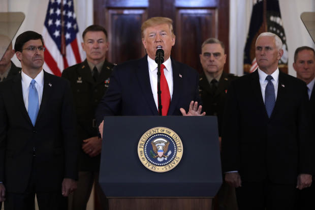 Trump to address the nation after Iranian missile attack — live stream