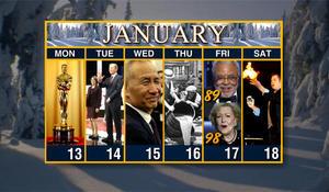 Calendar: Week of January 13