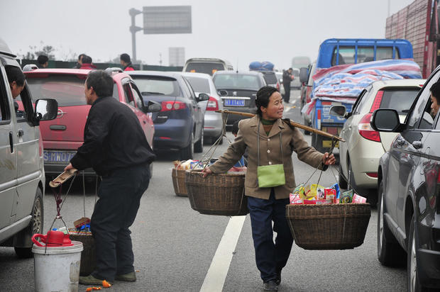 Traffic Jam Benefits Villagers In China