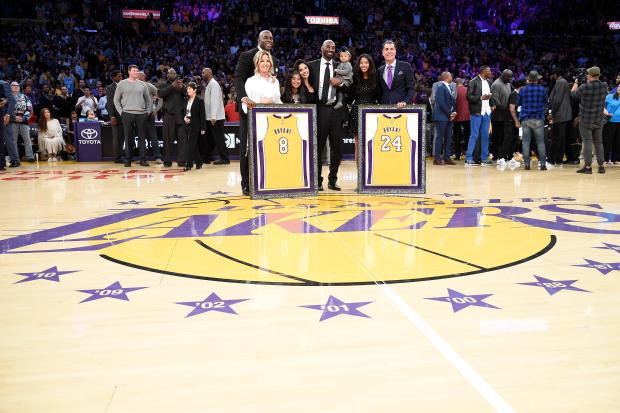 Kobe Bryant jerseys retired