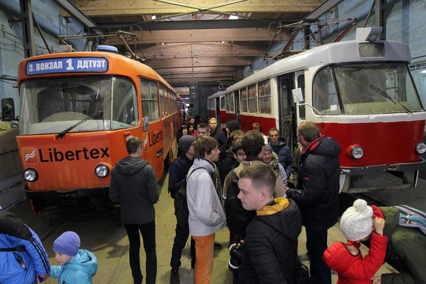 Tour of tram depot in Dnipro