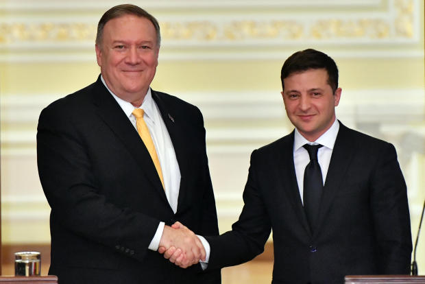 """Pompeo assures Ukraine leader Volodymyr Zelensky U.S. support """"will not waiver"""" as Trump impeachment trial continues today"""
