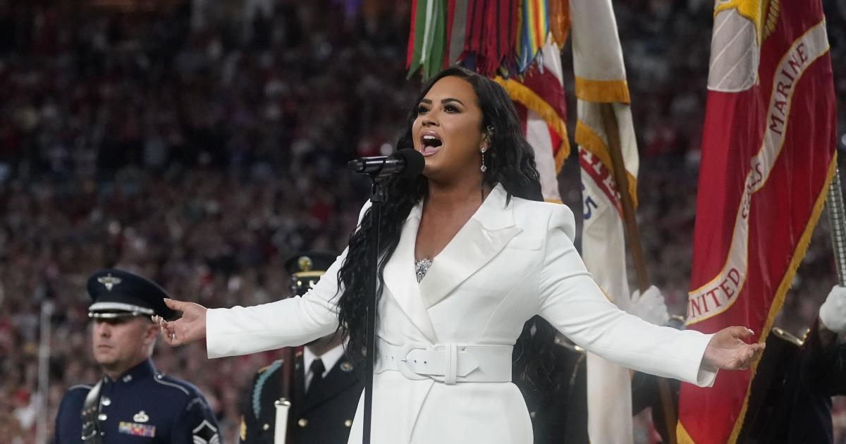 Demi Lovato delivers powerful rendition of the national anthem at Super Bowl 2020