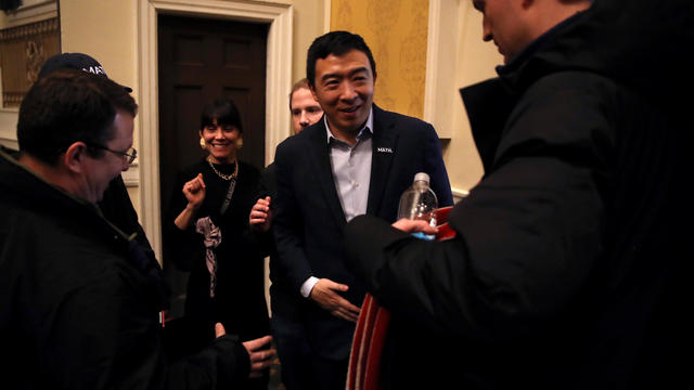 Andrew Yang Campaigns Across New Hampshire Ahead Of Nation's First Primary