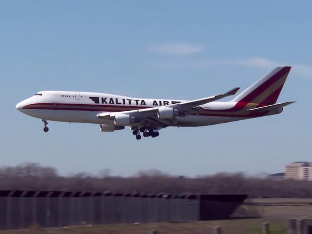 A U.S. government-chartered plane carrying Americans from Wuhan, China, arrived at Kelly Field in San Antonio on February 7, 2020.
