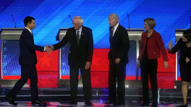 Democratic Presidential Candidates Debate In New Hampshire Ahead Of First Primary Contest