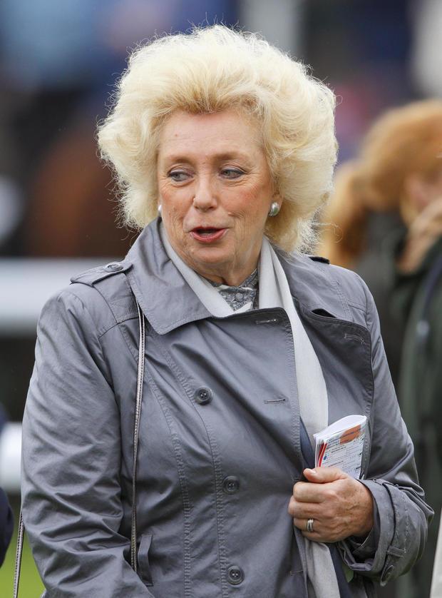 Kirsten Rausing Attends Newbury Races
