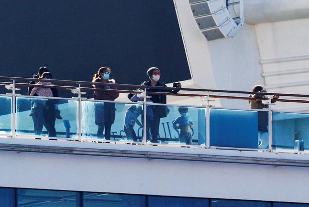 Cruise ship Diamond Princess at Daikoku Pier Cruise Terminal in Yokohama