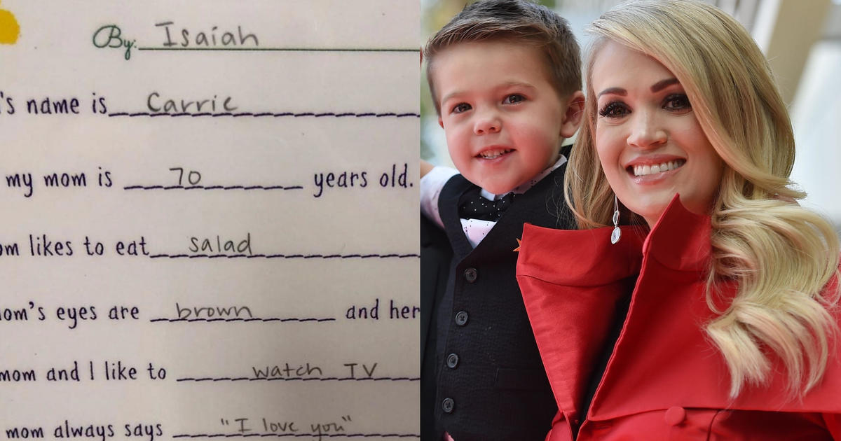 Carrie Underwood S Son Thinks She S 70 Years Old And Her Job Is To