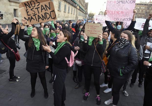 Mexico City violence protest