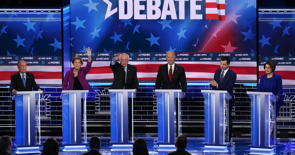 6 Δημοκρατικών Υποψηφίων Συναντήσεις Για Συζήτηση Στάδιο Στο Λας Βέγκας