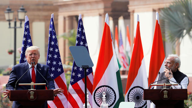 U.S. President Donald Trump visits India