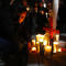 Activists place candles during a protest against femicides in Ciudad Juarez, Mexico, on January 25, 2020.