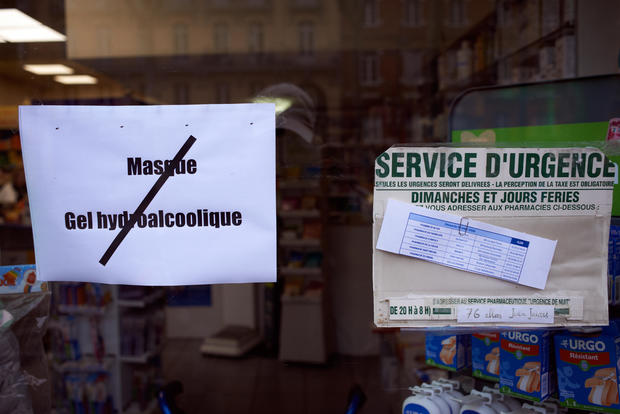 Coronavirus Covid-19: Stock Rupture Of Masks And Hands Sanitizer In Toulouse' Pharmacies