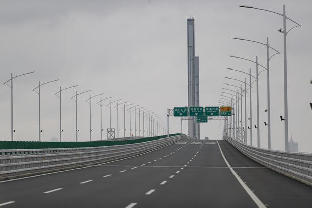 Hong Kong-Zhuhai-Macau Bridge seen empty.Chief Executive