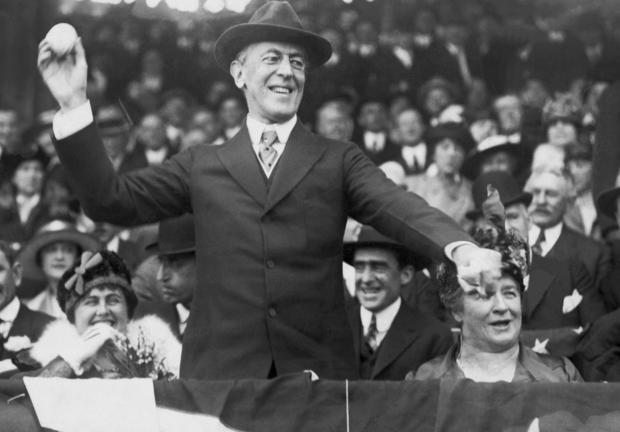 President Wilson Opens The Baseball Season