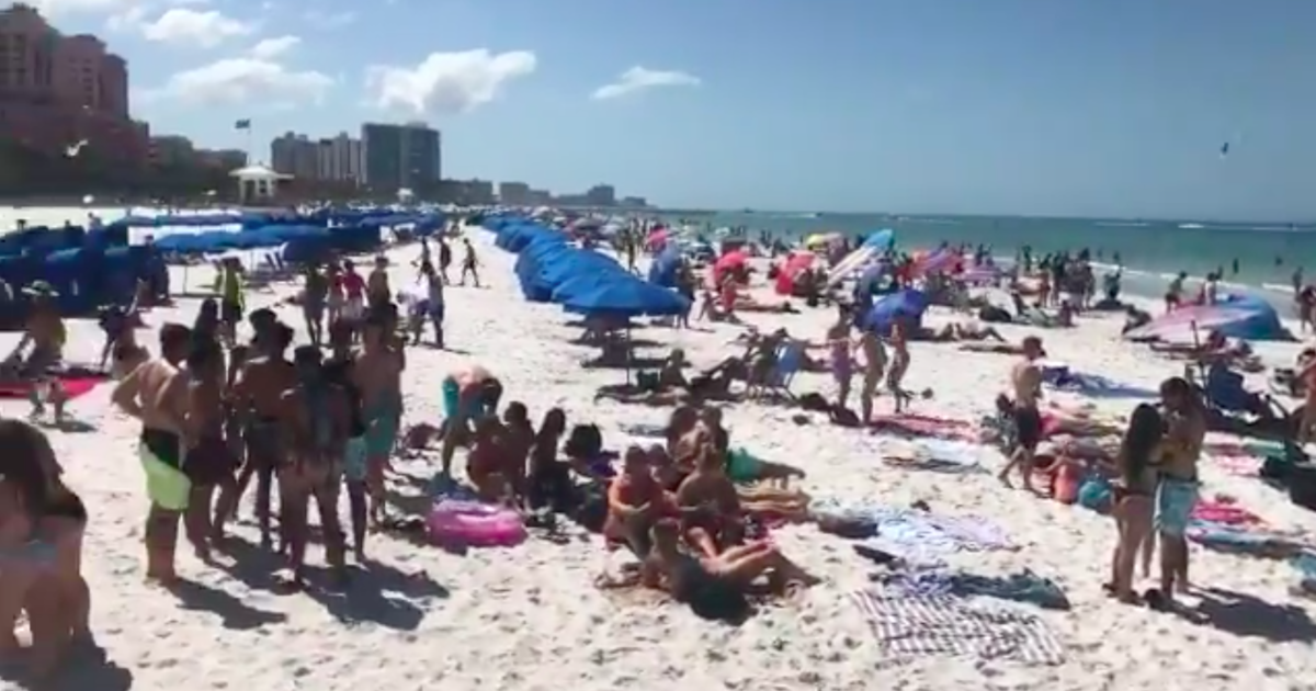 Thousands Flock To Florida Beaches Ignoring Coronavirus Concerns