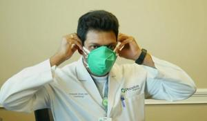 Hospital sews makeshift masks to combat shortage