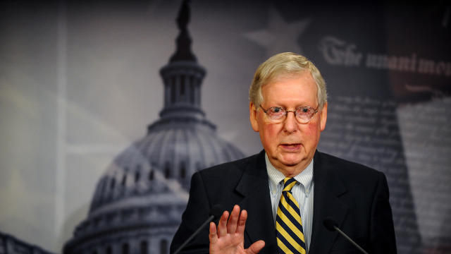 McConnell speaks to the media after a meeting to wrap up work on coronavirus economic aid legislation
