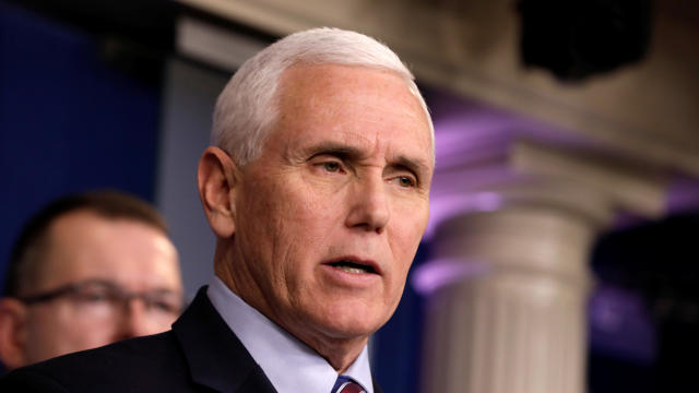 Vice President Mike Pence speaks during a news conference on the coronavirus crisis in Washington March 22, 2020.
