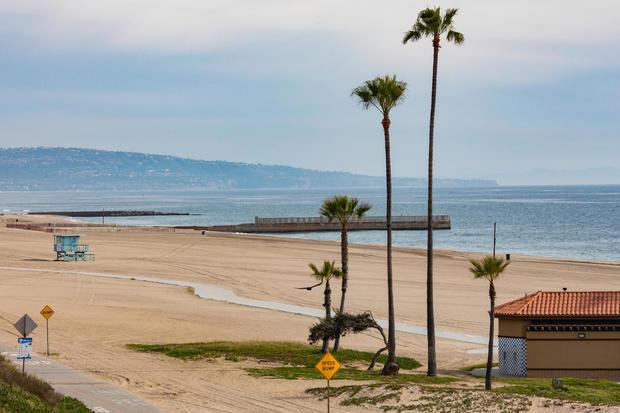 Los Angeles Beaches Empty Due Coronavirus Emergency