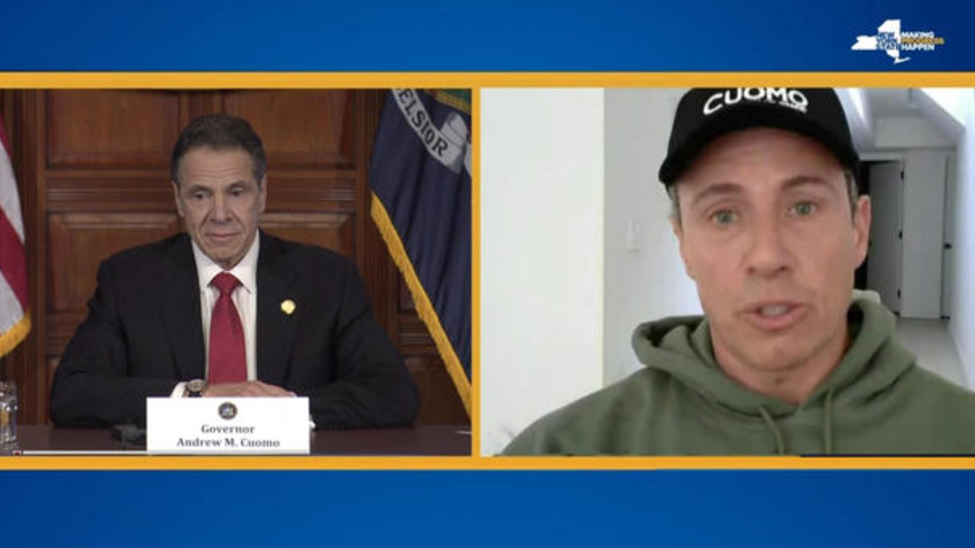 Governor Andrew Cuomo And Brother Chris Talk Coronavirus Cbs News