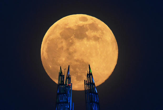 The Supermoon visible over Britain
