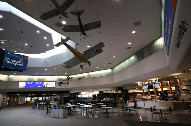 San Francisco Airport Terminal Serves Very Few Passengers During COVID-19 Pandemic