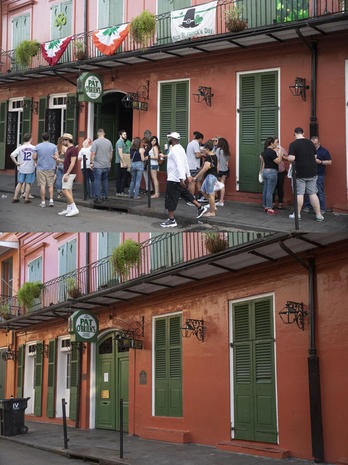 Pandemic: New Orleans, before and after lockdown