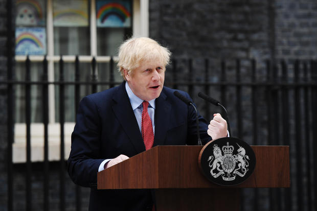 Prime Minister Returns To Downing Street After Suffering With Covid-19