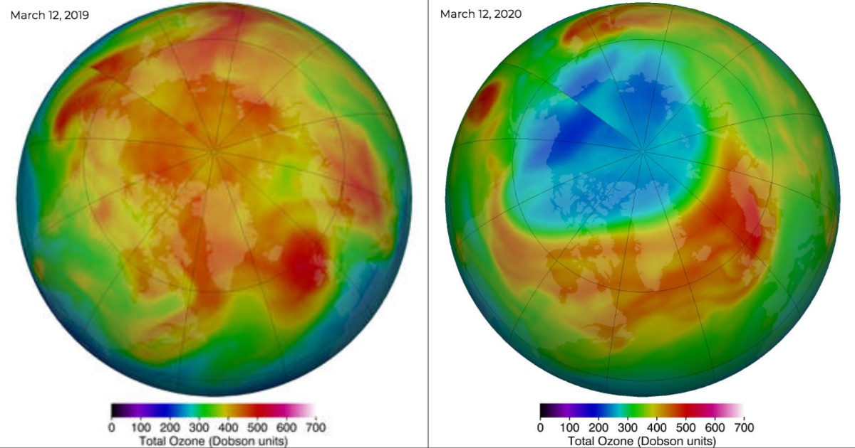 The largest Arctic ozone hole ever recorded is now closed thumbnail