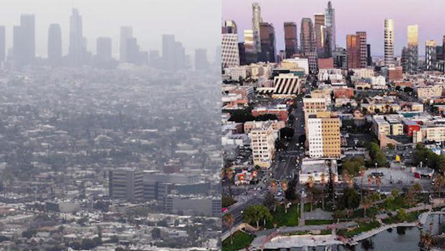 How the pandemic is changing air pollution levels - CBS News
