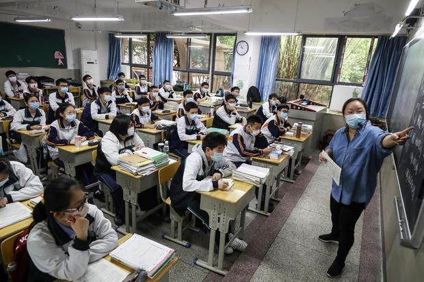 CHINA-HEALTH-VIRUS-EDUCATION