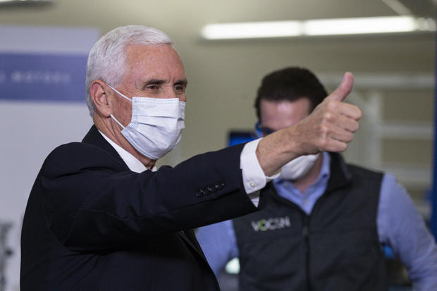 Pence mask General Motors