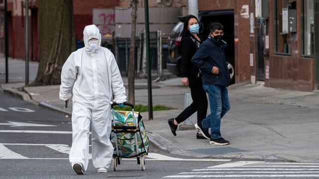 New York City coronavirus hazmat suit